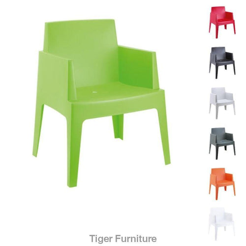 Plastic Box Shape Chair UK | Tiger Furniture