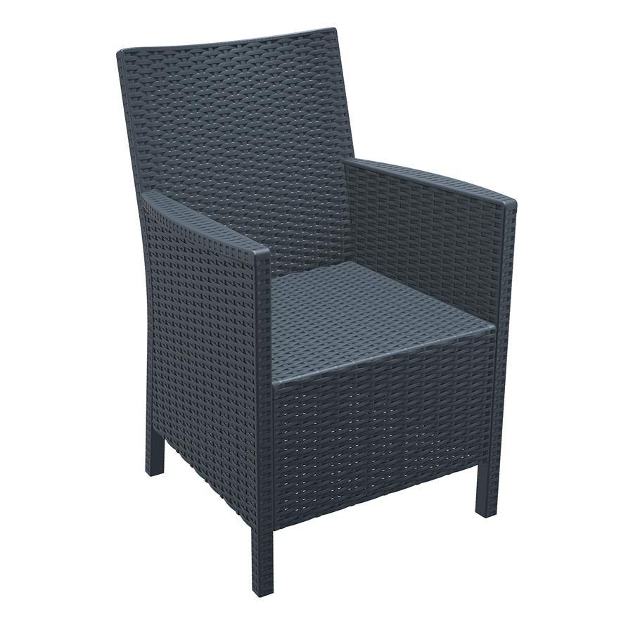 Grey Rattan Armchair - CALIFORNIA