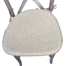 Load image into Gallery viewer, Cross back chair with rustic seat cushion