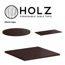 Load image into Gallery viewer, Contract Table tops - HOLZ Wenge 25mm - Wipe Clean - Commercial Use - Tiger Furniture