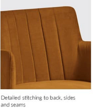Load image into Gallery viewer, Logan Arm Chair - Contract Lounge/Dining Chair - Nordic Gold - Tiger Furniture