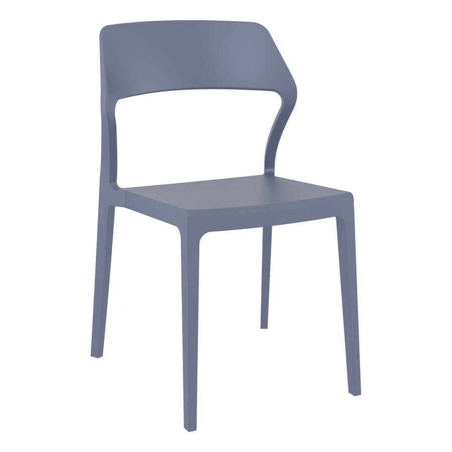 Moulded Contract Chair - Dark Grey