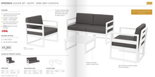 Load image into Gallery viewer, Dark grey contract lounge set | Tiger Furniture UK