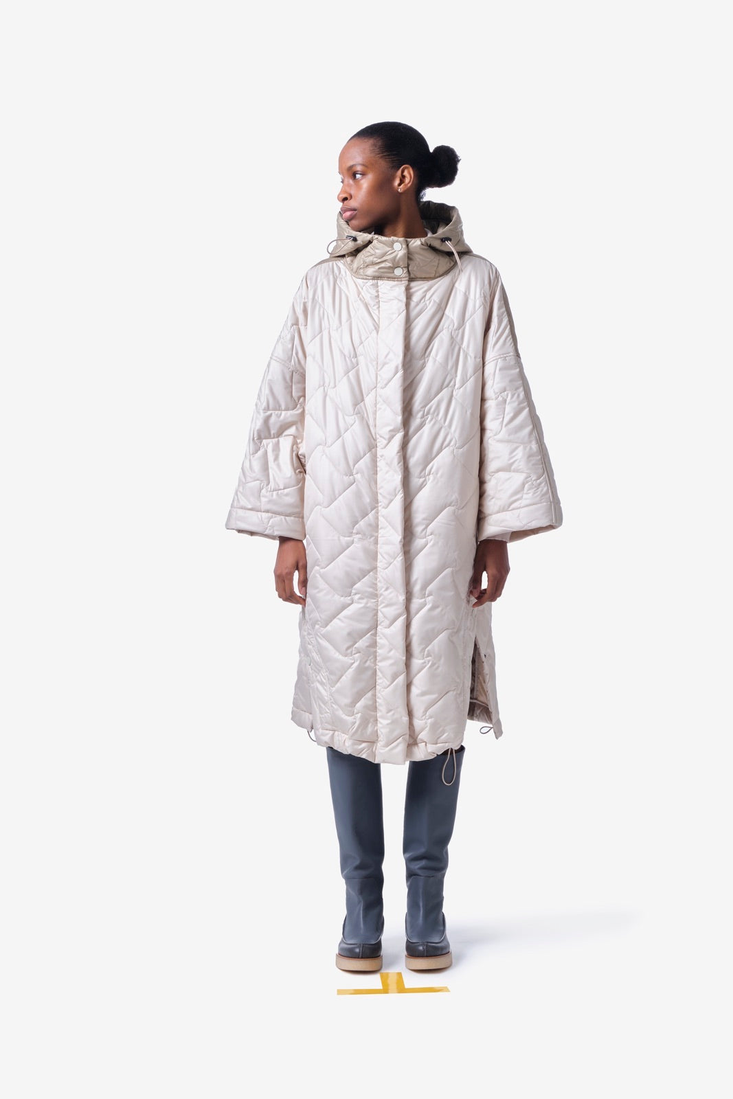 Two Tone Hooded Cape