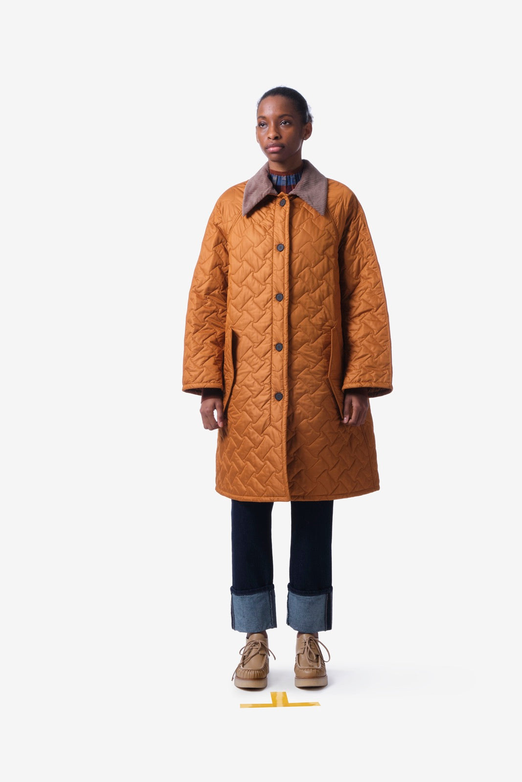 Buttoned Quilted Coat