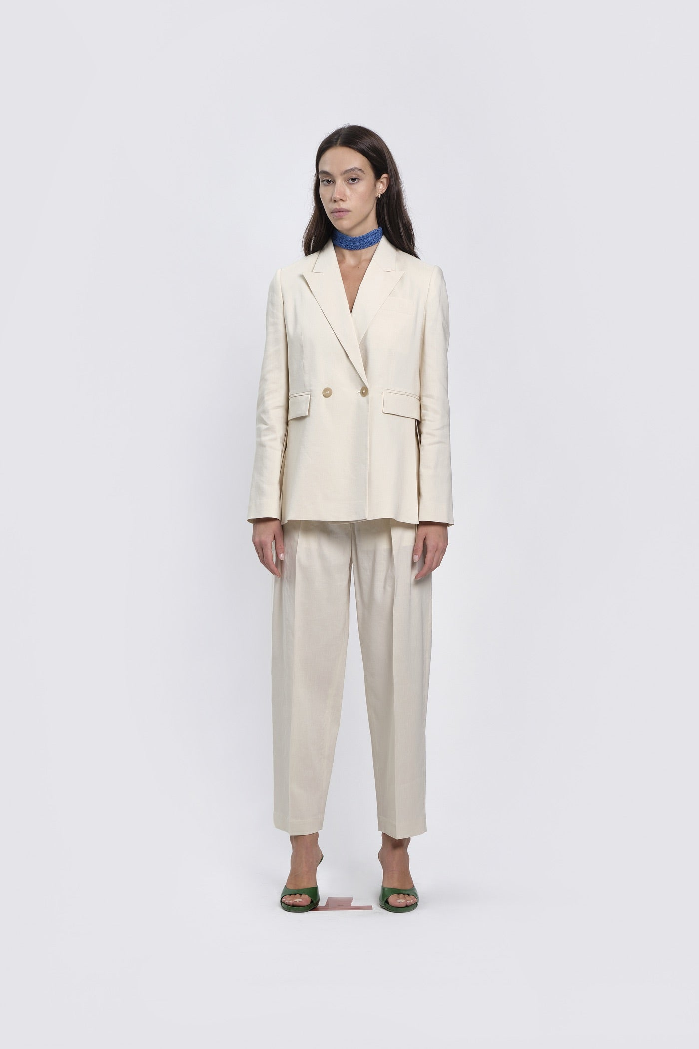 Ivory Trousers With Pinces