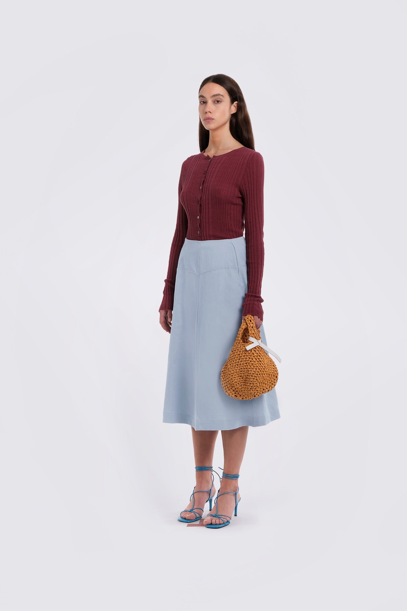Aubergine Fitted Knit