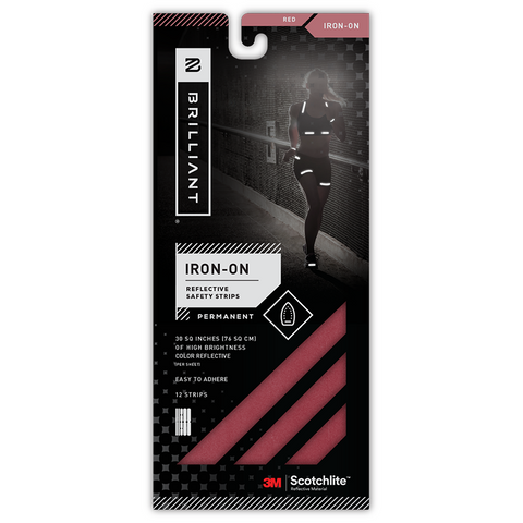 KIT BANDAS REFLECTIVOS IRON-ON ROJO - Bikexperts