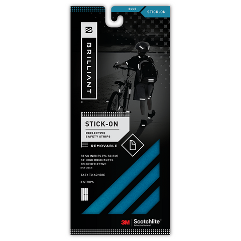 KIT BANDAS REFLECTIVOS IRON-ON AZUL - Bikexperts