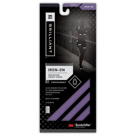 KIT BANDAS REFLECTIVOS IRON-ON PURPURA - Bikexperts