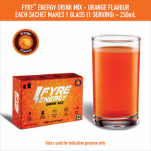 Load image into Gallery viewer, Fyre Energy Drink Mix - Orange Flavour (60 Sachets)
