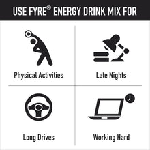 Load image into Gallery viewer, Fyre Energy Drink Mix - Orange Flavour (30 Sachets)