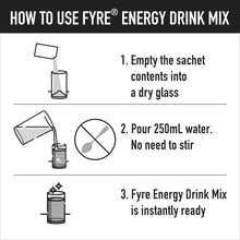 Load image into Gallery viewer, Fyre Energy Drink Mix - Lime Lemon Flavour (15 Sachets)