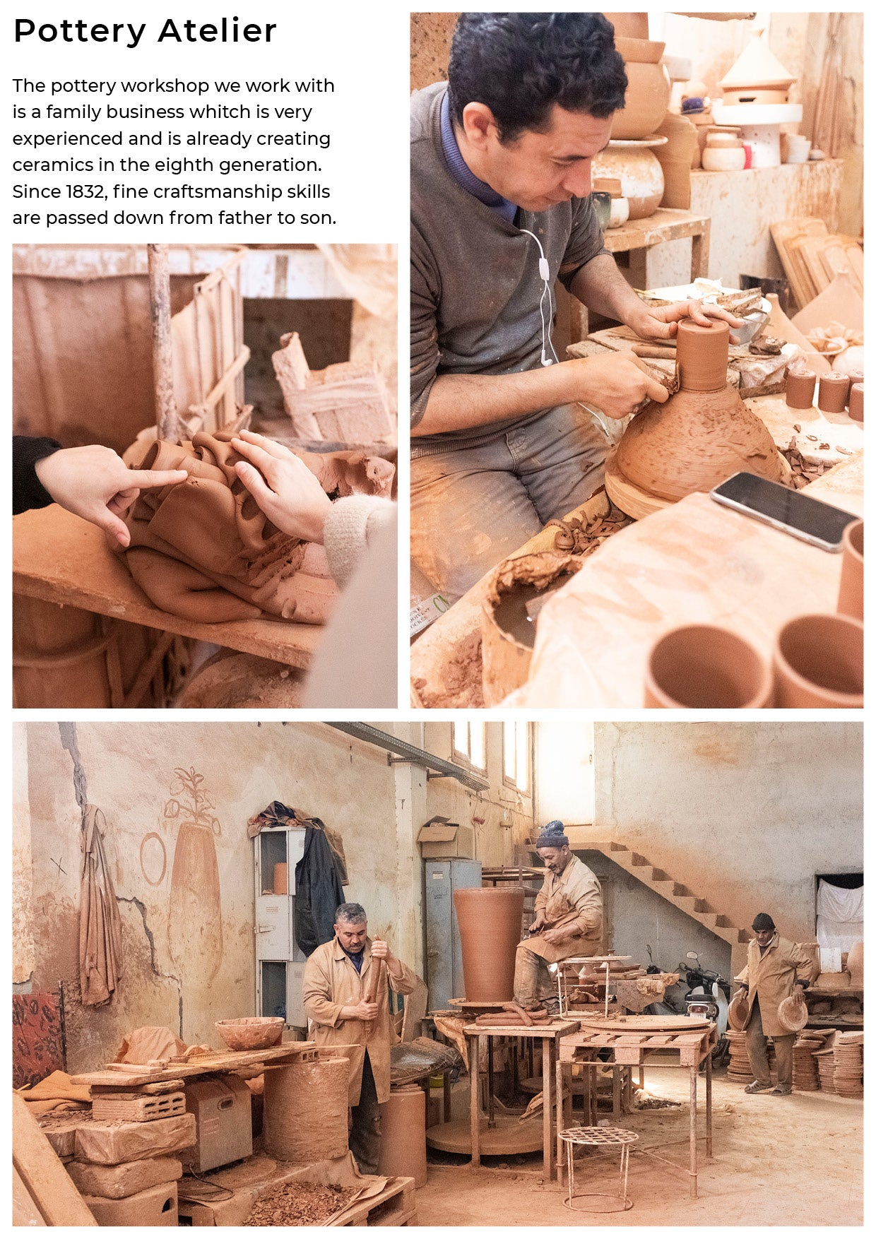 The pottery workshop  family business creating ceramics