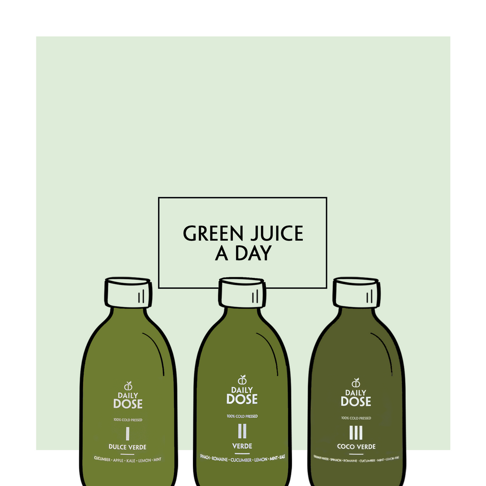 Daily Dose Juice Cleanse: Green Juice A Day (300ml) (Cold Pressed)