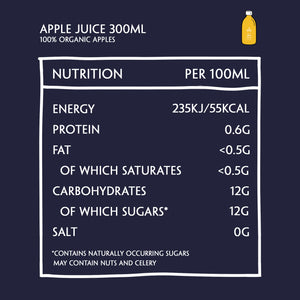 Daily Dose Pressed Apple Juice Nutritional Information