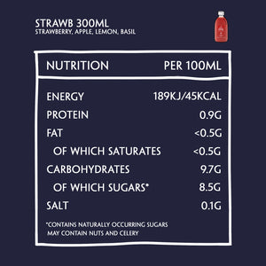 Daily Dose Pressed Strawb Nutritional information