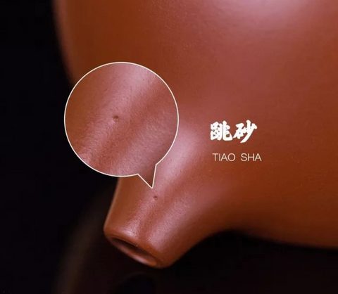 """Tiny holes or """"jumping sand"""" 跳砂 on the surface of an Yixing teapot."""