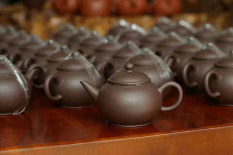 Shuiping Yixing Teapots made of dicaoqing mined from Huanglong Mountain No. 5 Mine.