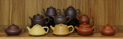 Yixing Teapot and tea pairing with zini, duanni and zhuni teapots