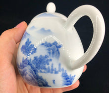 Load image into Gallery viewer, 200ml Qinghua Blue and White Painted Jingdezhen Porcelain Teapot