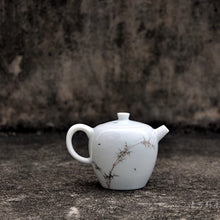 Load image into Gallery viewer, 190ml Bamboo Painting White Jingdezhen Porcelain Teapot