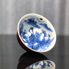 Load image into Gallery viewer, 109ml Jihong Glaze Qinghua Porcelain Fuyun Cup