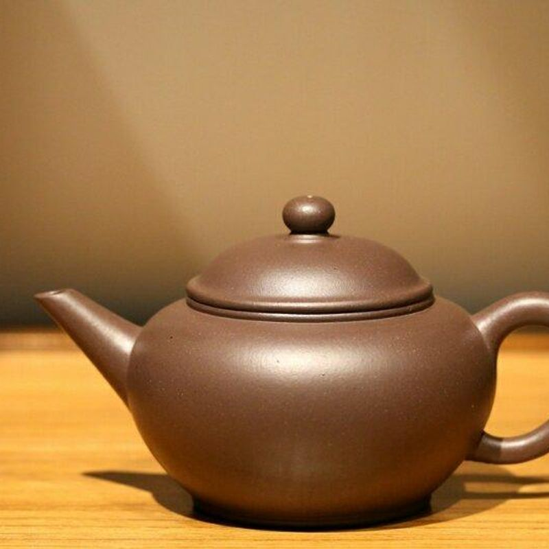 Shuiping Yixing Teapot, Dicaoqing clay 225ml