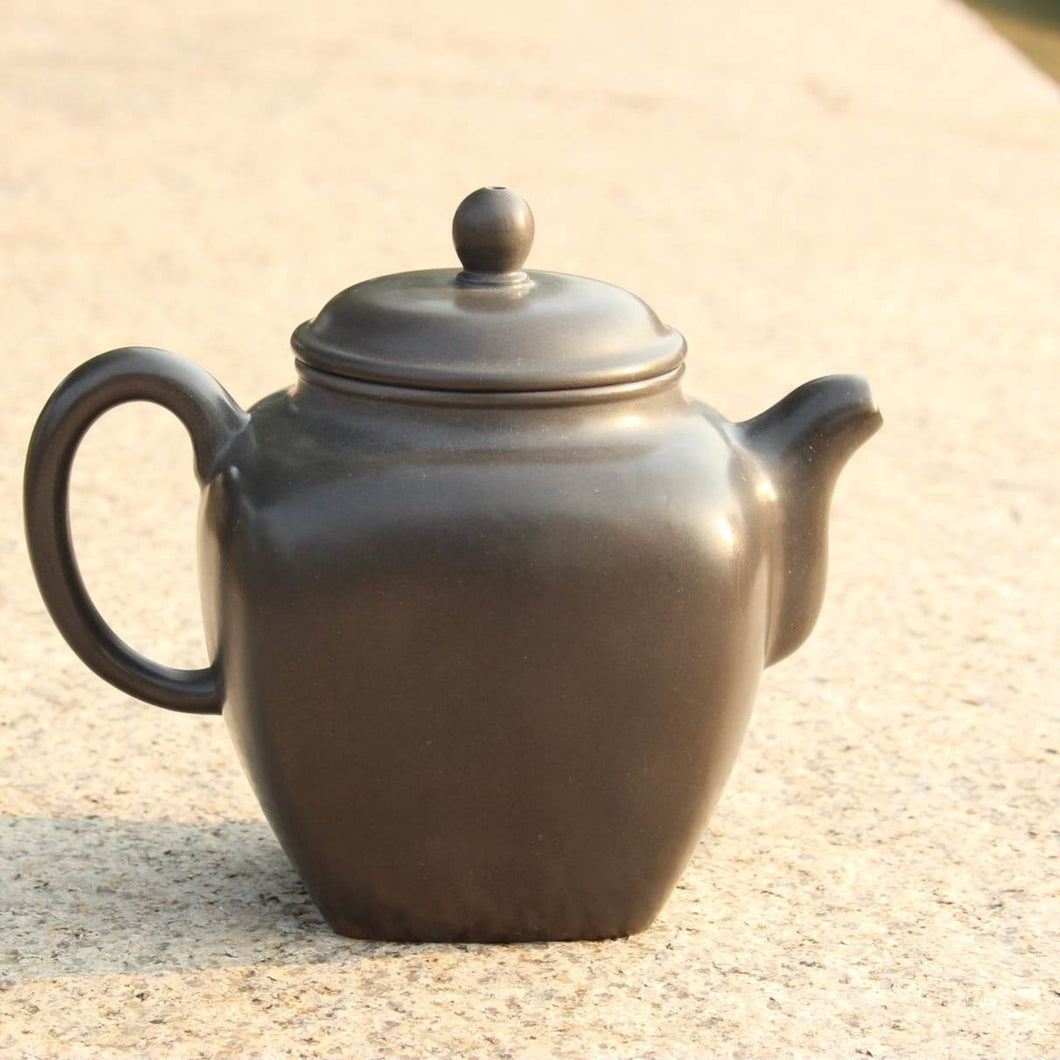 430ml Tall Square Fanggu Nixing Teapot by Huang Fu Sheng