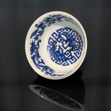 Load image into Gallery viewer, 105ml Jihong Glaze Qinghua Porcelain Auspicious Dragons and Bats Cup