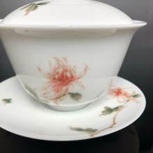 Load image into Gallery viewer, Autumn Chrysanthemum Youzhongcai Jingdezhen Porcelain Gaiwan, 110ml