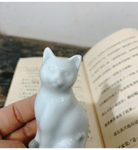 Load image into Gallery viewer, Yingqing Jingdezhen Porcelain Cat Tea Pet