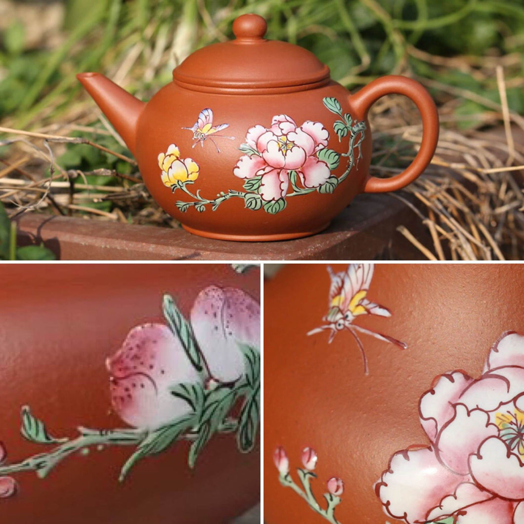 Choose your Diancai Painting, Shuiping Yixing Teapot, Zhuni  clay, 150ml