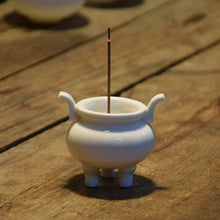 Load image into Gallery viewer, Chinese Tripod Censer Blanc de Chine Porcelain Incense Holder