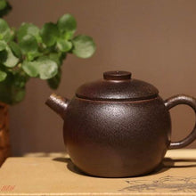 Load image into Gallery viewer, Wood Fired Julunzhu 巨轮珠 Yixing Teapot, Dicaoqing clay, 130ml