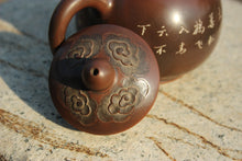 Load image into Gallery viewer, 220ml Nixing Teapot with Carvings of Cranes by Li Changquan