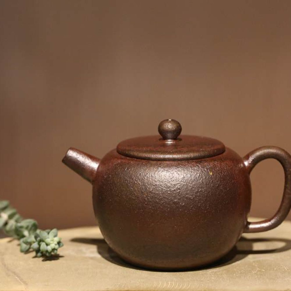 Wood Fired Dicaoqing 底槽青 HengYu Lotus Seed Yixing Teapot, 190ml