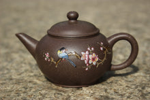 Load image into Gallery viewer, TianQingNi Small Shuiping Yixing Teapot with Diancai Painting, 点彩天青泥小水平壶, 75ml