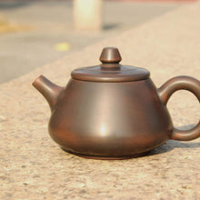 Load image into Gallery viewer, 110ml Tall Shipao Nixing Teapot 坭兴石瓢壶 by Wu Sheng Sheng