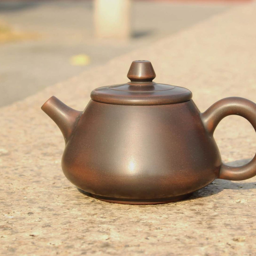 110ml Tall Shipao Nixing Teapot 坭兴石瓢壶 by Wu Sheng Sheng