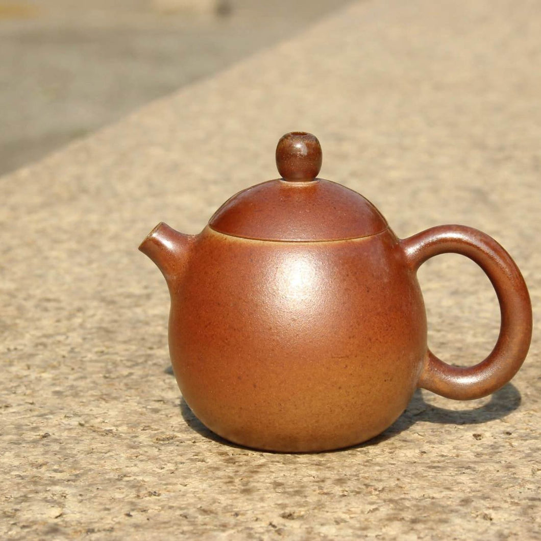 Wood Fired Longdan Nixing Teapot,  柴烧坭兴龙蛋壶, 110ml