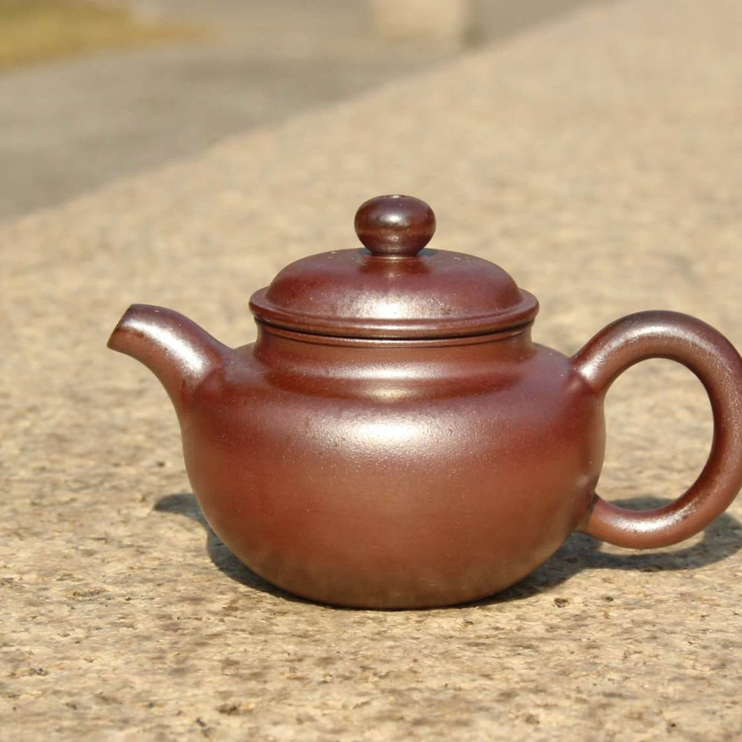 Wood Fired Fanggu Nixing Teapot, 柴烧坭兴仿古壶,100ml