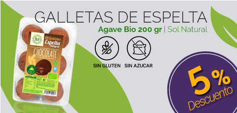 Galletas Agave Chocolate Sol Natural - Dietetica Ferrer