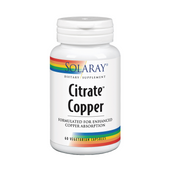Citrate Copper 2 mg 60 Capsulas | Solaray - Dietetica Ferrer