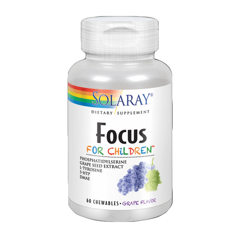 Focus For Children 60 Comprimidos | Solaray - Dietetica Ferrer
