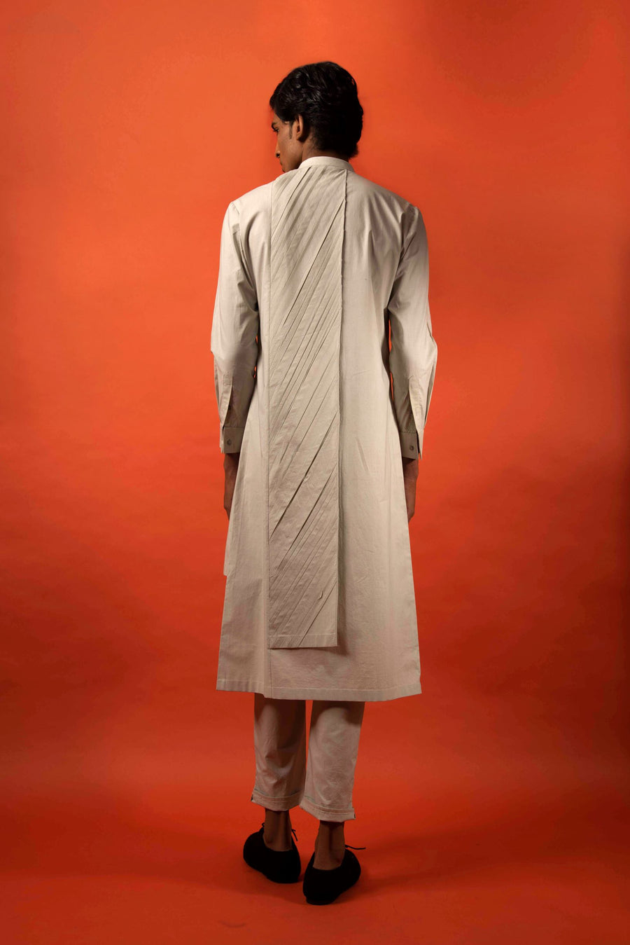 Pleated Fin Kurta-Antar-Agni