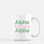 Alpha Kappa Alpha Sketched Out Mug