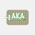 Polka Dotted Soror Luggage Tag