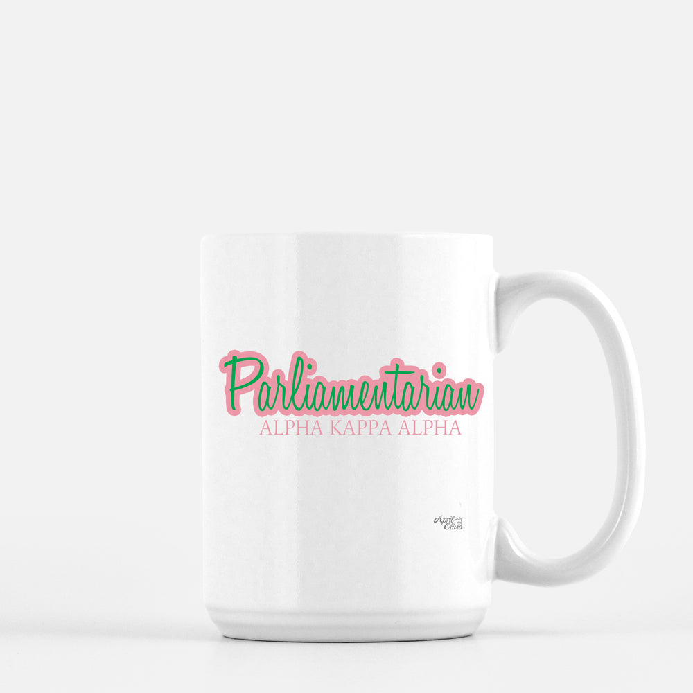 Load image into Gallery viewer, Alpha Kappa Alpha Parliamentarian Mug