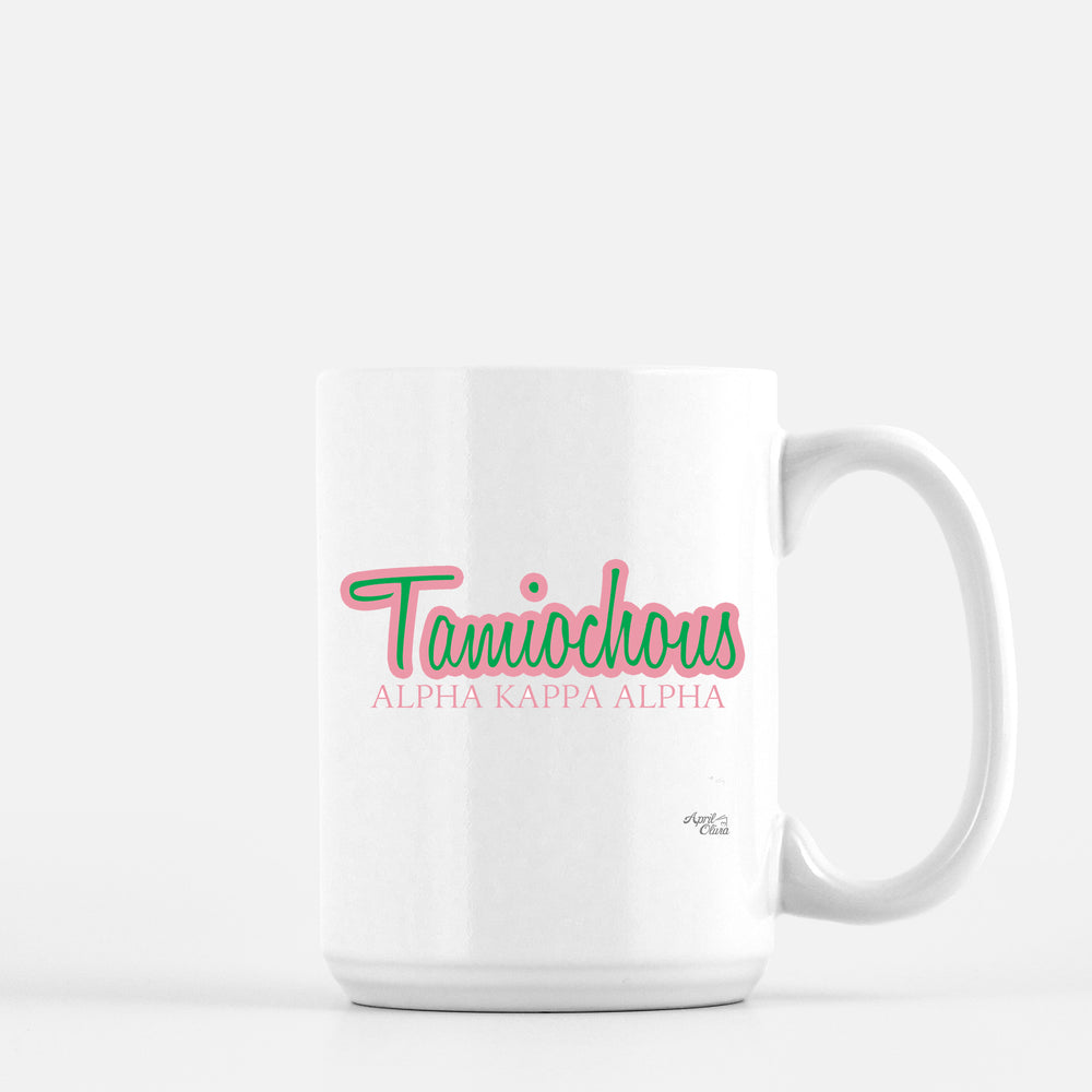 Load image into Gallery viewer, Alpha Kappa Alpha Tamiouchos Mug